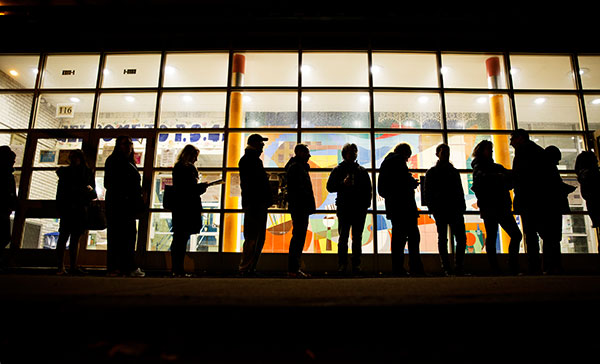 "<div class=""meta image-caption""><div class=""origin-logo origin-image none""><span>none</span></div><span class=""caption-text"">A line of voters stretches down the street as they wait for a polling site to open in New York, Tuesday, Nov. 8, 2016. (David Goldman/AP Photo)</span></div>"