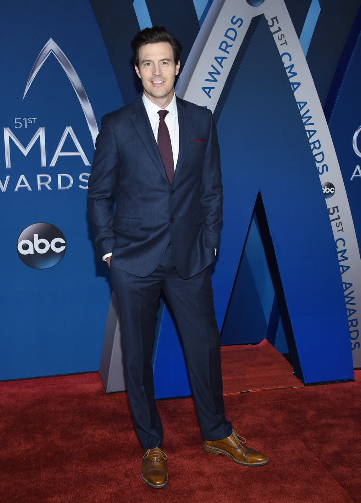 "<div class=""meta image-caption""><div class=""origin-logo origin-image none""><span>none</span></div><span class=""caption-text"">Clayton Anderson arrives at the 51st annual CMA Awards on Wednesday, Nov. 8, 2017, in Nashville, Tenn. (Evan Agostini/Invision/AP)</span></div>"