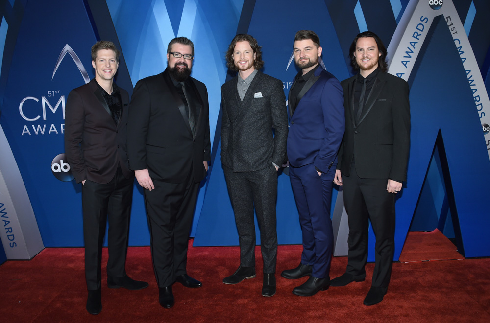 "<div class=""meta image-caption""><div class=""origin-logo origin-image none""><span>none</span></div><span class=""caption-text"">Home Free arrives at the 51st annual CMA Awards on Wednesday, Nov. 8, 2017, in Nashville, Tenn. (Evan Agostini/Invision/AP)</span></div>"