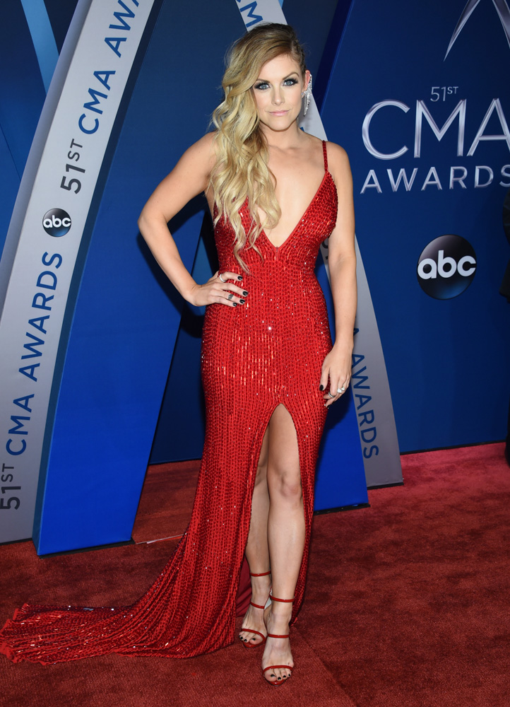 "<div class=""meta image-caption""><div class=""origin-logo origin-image none""><span>none</span></div><span class=""caption-text"">Lindsay Ell arrives at the 51st annual CMA Awards on Wednesday, Nov. 8, 2017, in Nashville, Tenn. (Evan Agostini/Invision/AP)</span></div>"