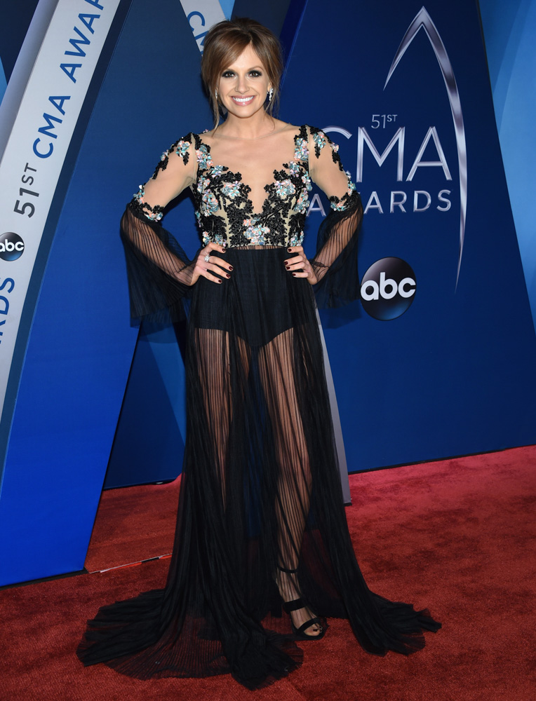 "<div class=""meta image-caption""><div class=""origin-logo origin-image none""><span>none</span></div><span class=""caption-text"">Carly Pearce arrives at the 51st annual CMA Awards on Wednesday, Nov. 8, 2017, in Nashville, Tenn. (Evan Agostini/Invision/AP)</span></div>"
