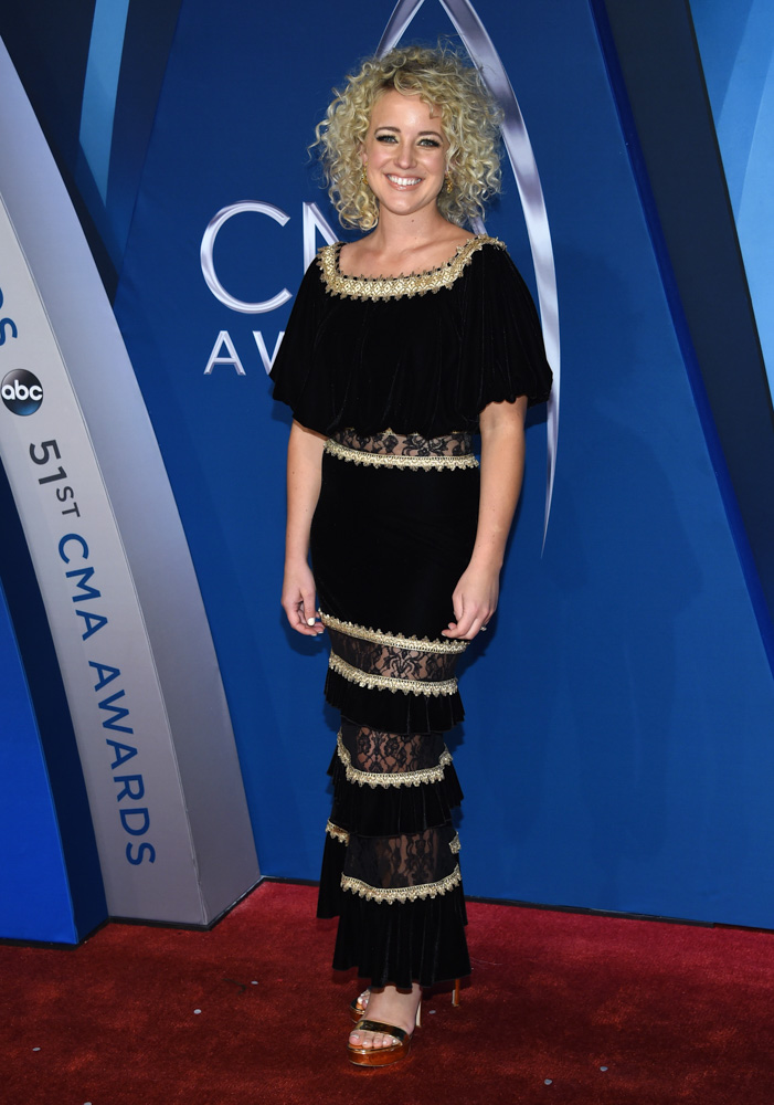 "<div class=""meta image-caption""><div class=""origin-logo origin-image none""><span>none</span></div><span class=""caption-text"">Cam arrives at the 51st annual CMA Awards on Wednesday, Nov. 8, 2017, in Nashville, Tenn (Evan Agostini/Invision/AP)</span></div>"