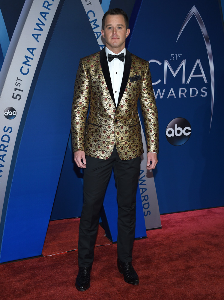"<div class=""meta image-caption""><div class=""origin-logo origin-image none""><span>none</span></div><span class=""caption-text"">Easton Corbin arrives at the 51st annual CMA Awards on Wednesday, Nov. 8, 2017, in Nashville, Tenn. (Evan Agostini/Invision/AP)</span></div>"