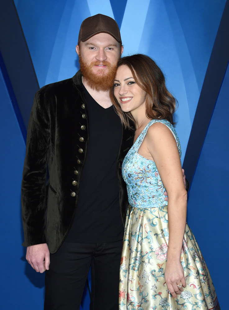 "<div class=""meta image-caption""><div class=""origin-logo origin-image none""><span>none</span></div><span class=""caption-text"">Eric Paslay, left, and Natalie Harker arrive at the 51st annual CMA Awards on Wednesday, Nov. 8, 2017, in Nashville, Tenn. (Evan Agostini/Invision/AP)</span></div>"