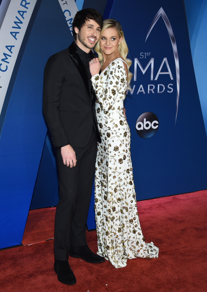 "<div class=""meta image-caption""><div class=""origin-logo origin-image none""><span>none</span></div><span class=""caption-text"">Kelsea Ballerini, right, and Morgan Evans arrive at the 51st annual CMA Awards on Wednesday, Nov. 8, 2017, in Nashville, Tenn. (Evan Agostini/Invision/AP)</span></div>"