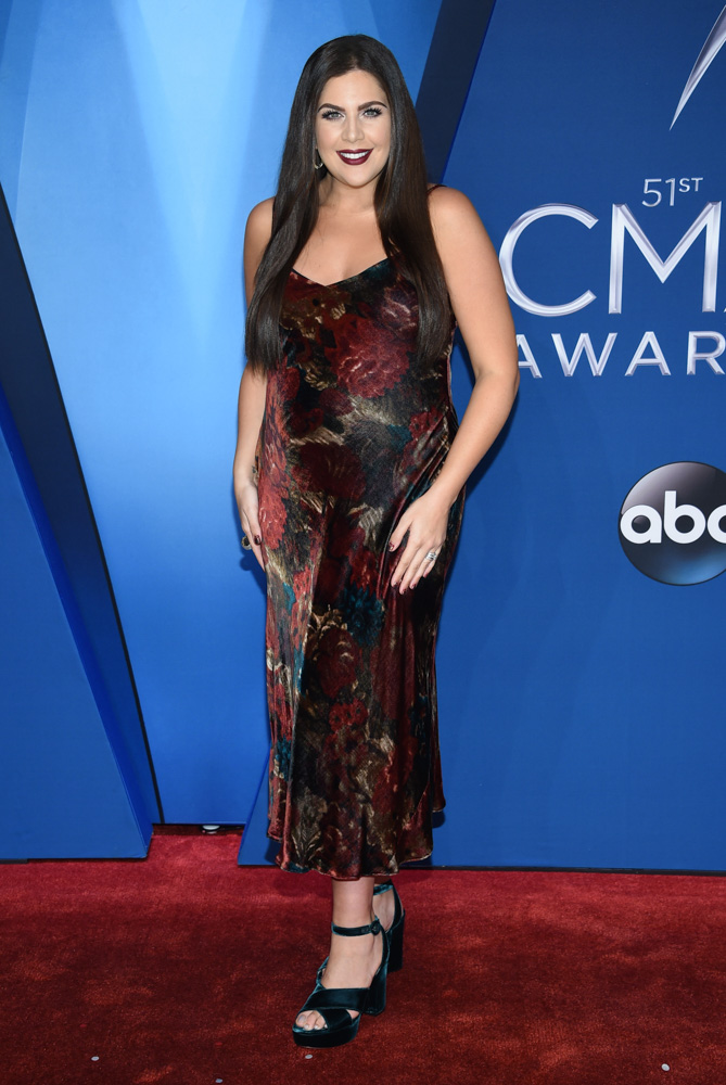 "<div class=""meta image-caption""><div class=""origin-logo origin-image none""><span>none</span></div><span class=""caption-text"">Hillary Scott arrives at the 51st annual CMA Awards on Wednesday, Nov. 8, 2017, in Nashville, Tenn. (Evan Agostini/Invision/AP)</span></div>"