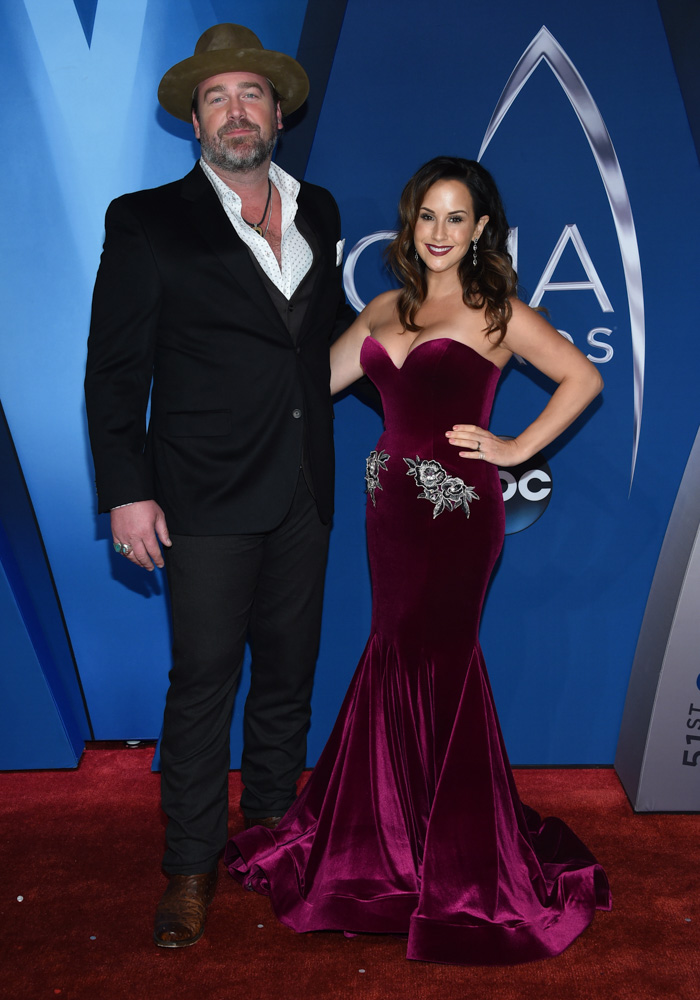 "<div class=""meta image-caption""><div class=""origin-logo origin-image none""><span>none</span></div><span class=""caption-text"">Lee Brice, left, and Sara Reeveley arrive at the 51st annual CMA Awards on Wednesday, Nov. 8, 2017, in Nashville, Tenn. (Evan Agostini/Invision/AP)</span></div>"