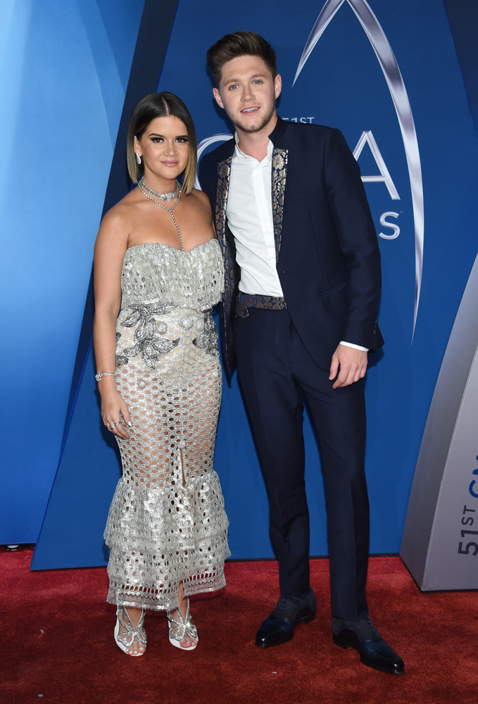 "<div class=""meta image-caption""><div class=""origin-logo origin-image none""><span>none</span></div><span class=""caption-text"">Maren Morris, left, and Niall Horan arrive at the 51st annual CMA Awards on Wednesday, Nov. 8, 2017, in Nashville, Tenn. (Evan Agostini/Invision/AP)</span></div>"