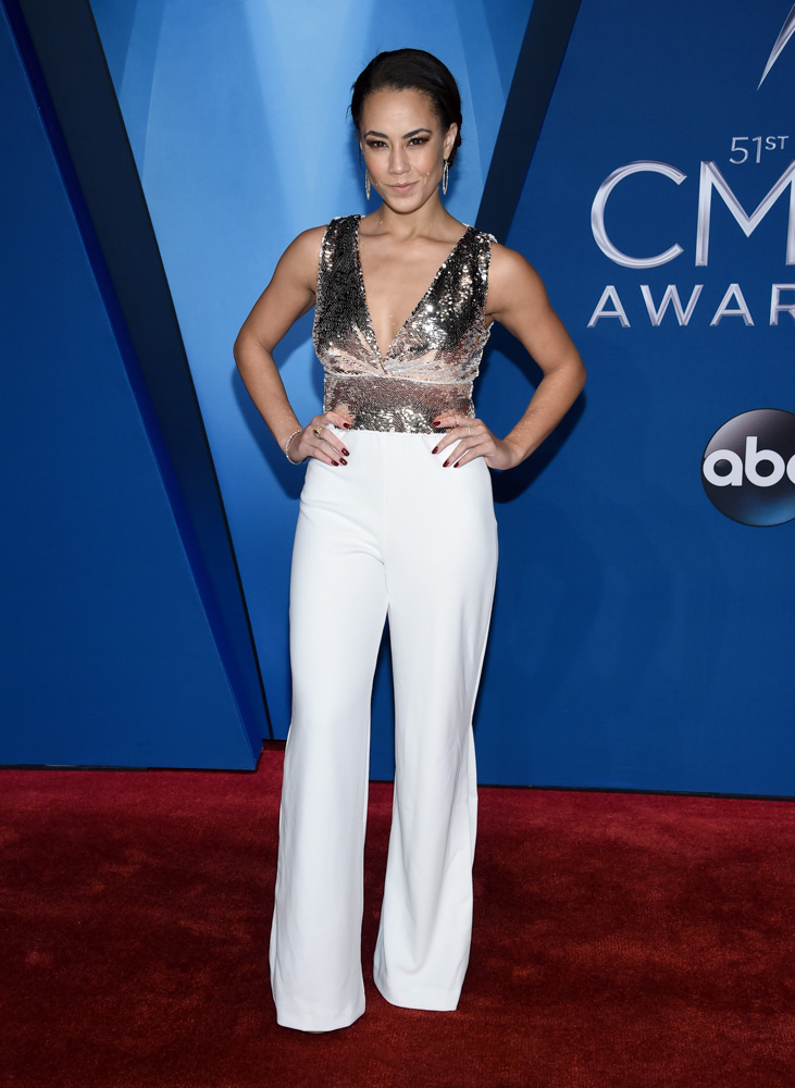 "<div class=""meta image-caption""><div class=""origin-logo origin-image none""><span>none</span></div><span class=""caption-text"">Alex Hudgens arrives at the 51st annual CMA Awards on Wednesday, Nov. 8, 2017, in Nashville, Tenn. (Evan Agostini/Invision/AP)</span></div>"