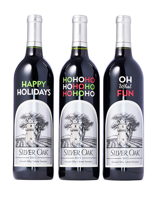 "<div class=""meta image-caption""><div class=""origin-logo origin-image none""><span>none</span></div><span class=""caption-text"">Customizable Pre-Etched Limited Edition Holiday Bottles of 2012 Alexander Valley Cabernet Sauvignon,  $99 each. Available at: SilverOak.com (Gregor Halenda/Oprah.com)</span></div>"