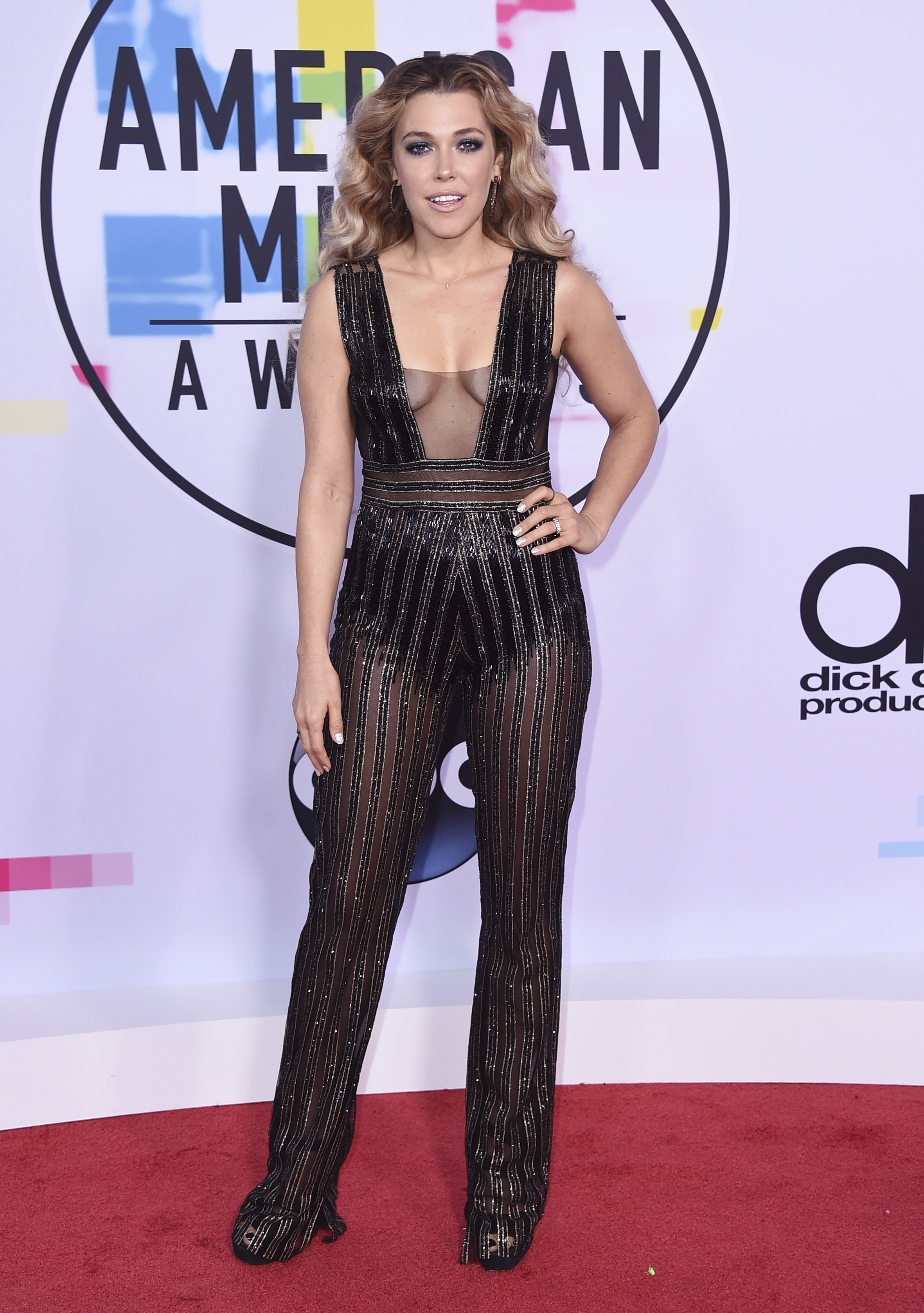 <div class='meta'><div class='origin-logo' data-origin='none'></div><span class='caption-text' data-credit='Jordan Strauss/Invision/AP'>Rachel Platten arrives at the American Music Awards at the Microsoft Theater on Sunday, Nov. 19, 2017, in Los Angeles.</span></div>