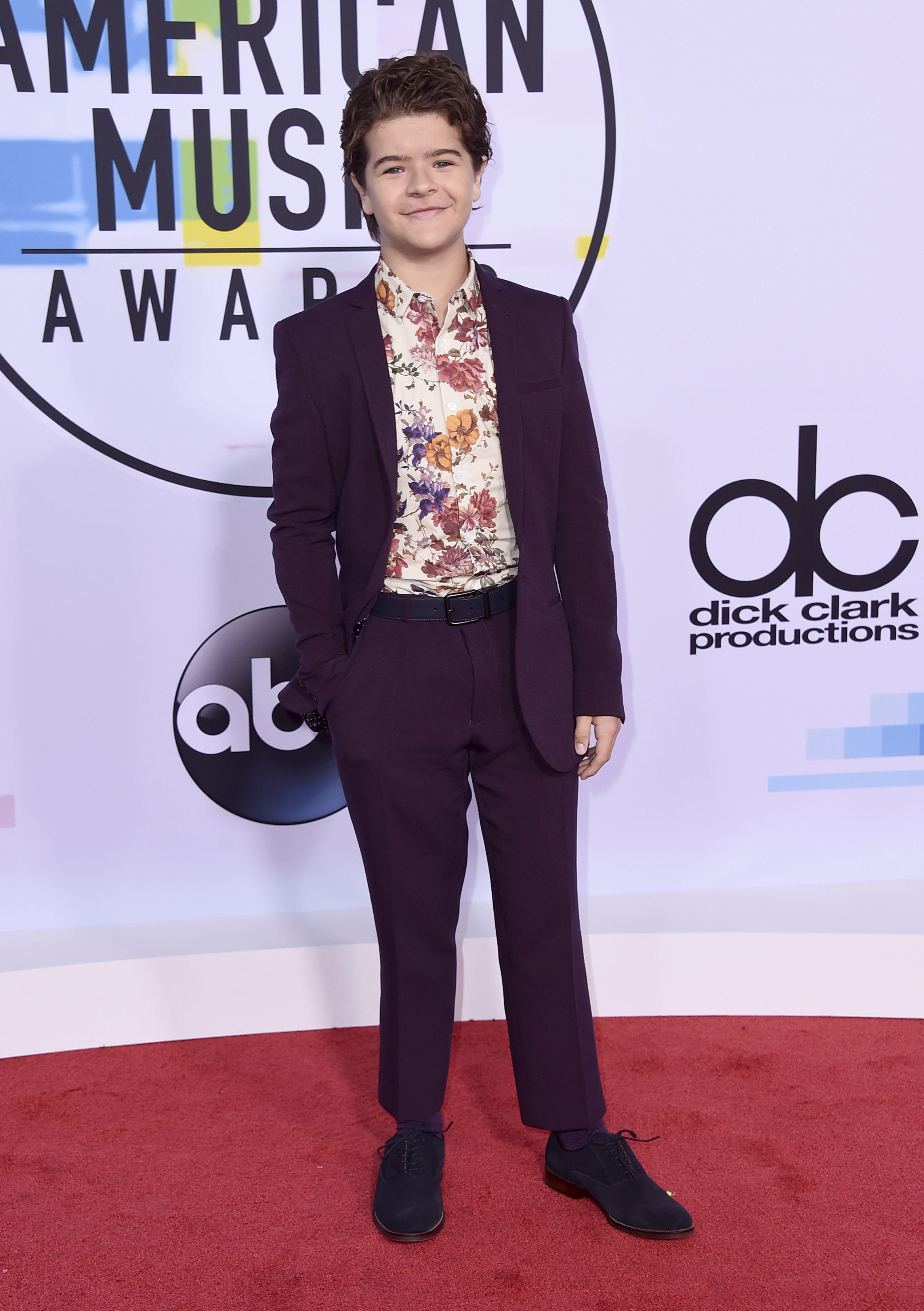 <div class='meta'><div class='origin-logo' data-origin='none'></div><span class='caption-text' data-credit='Jordan Strauss/Invision/AP'>Gaten Matarazzo arrives at the American Music Awards at the Microsoft Theater on Sunday, Nov. 19, 2017, in Los Angeles.</span></div>