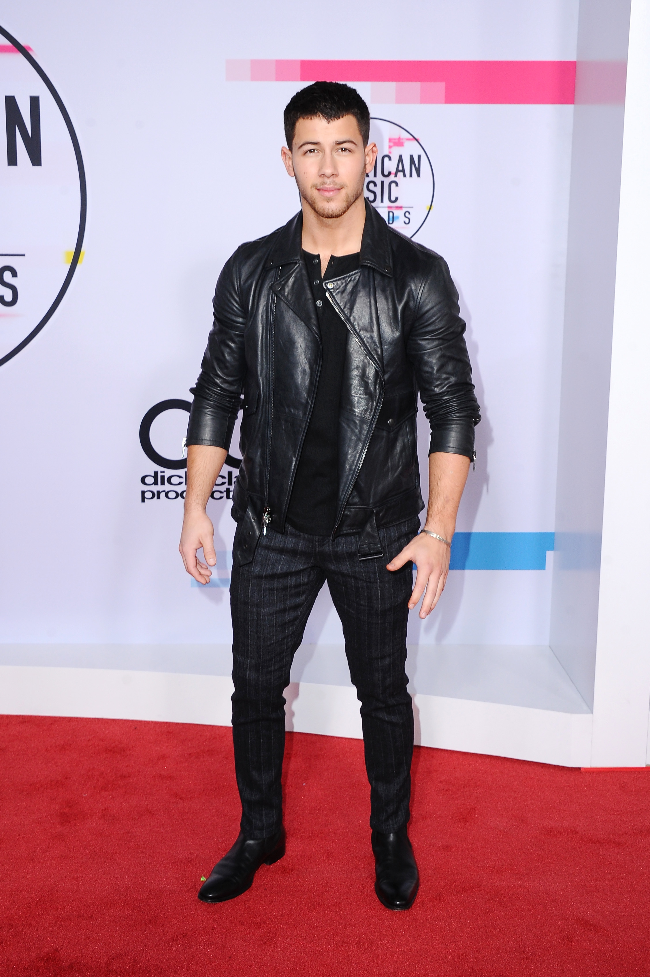 <div class='meta'><div class='origin-logo' data-origin='none'></div><span class='caption-text' data-credit='Jon Kopaloff/FilmMagic via Getty'>Nick Jonas attends the 2017 American Music Awards at Microsoft Theater on November 19, 2017 in Los Angeles, California.</span></div>