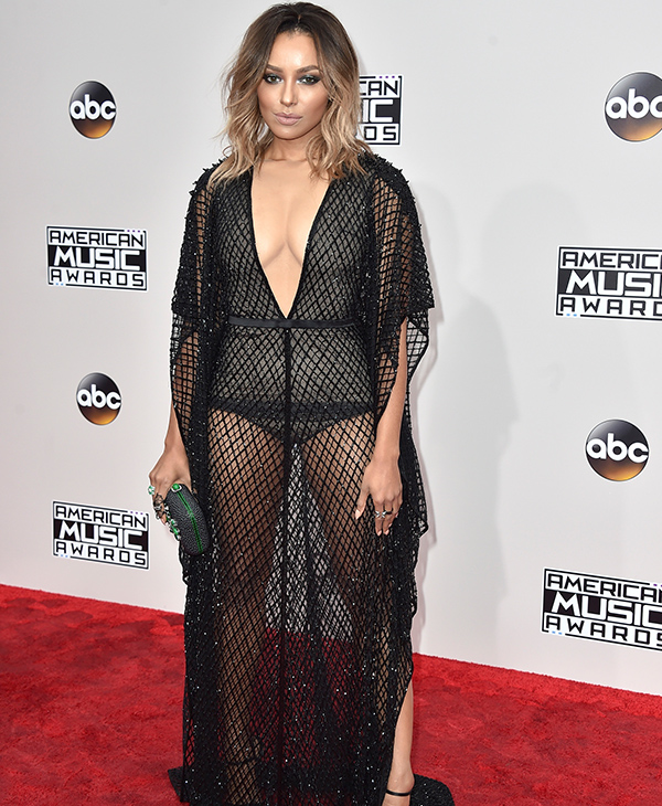 "<div class=""meta image-caption""><div class=""origin-logo origin-image none""><span>none</span></div><span class=""caption-text"">Kat Graham arrives at the American Music Awards at the Microsoft Theater on Sunday, Nov. 20, 2016, in Los Angeles. (Jordan Strauss/Invision/AP)</span></div>"