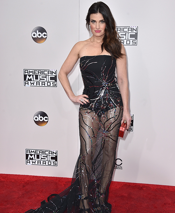 "<div class=""meta image-caption""><div class=""origin-logo origin-image none""><span>none</span></div><span class=""caption-text"">Idina Menzel arrives at the American Music Awards at the Microsoft Theater on Sunday, Nov. 20, 2016, in Los Angeles. (Jordan Strauss/Invision/AP)</span></div>"