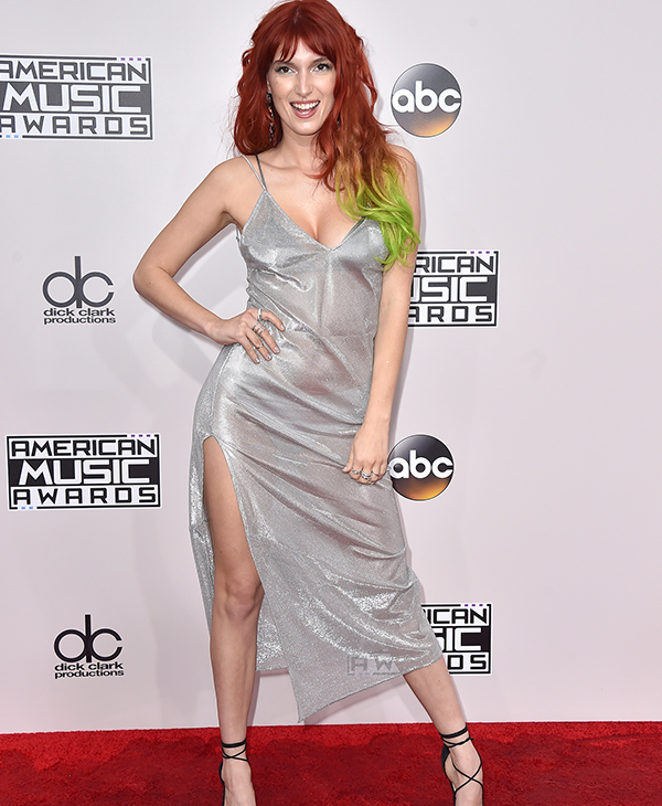 "<div class=""meta image-caption""><div class=""origin-logo origin-image none""><span>none</span></div><span class=""caption-text"">Dani Thorne arrives at the American Music Awards at the Microsoft Theater on Sunday, Nov. 20, 2016, in Los Angeles. (Jordan Strauss/Invision/AP)</span></div>"