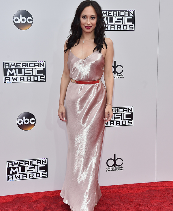 "<div class=""meta image-caption""><div class=""origin-logo origin-image none""><span>none</span></div><span class=""caption-text"">Cheryl Burke arrives at the American Music Awards at the Microsoft Theater on Sunday, Nov. 20, 2016, in Los Angeles. (Jordan Strauss/Invision/AP)</span></div>"