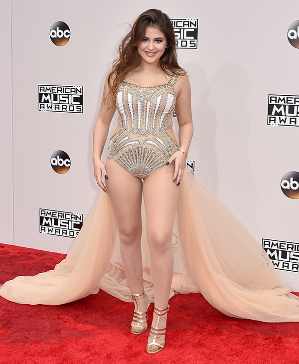 "<div class=""meta image-caption""><div class=""origin-logo origin-image none""><span>none</span></div><span class=""caption-text"">Lauren Giraldo arrives at the American Music Awards at the Microsoft Theater on Sunday, Nov. 20, 2016, in Los Angeles. (Jordan Strauss/Invision/AP)</span></div>"