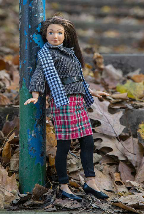 <div class='meta'><div class='origin-logo' data-origin='none'></div><span class='caption-text' data-credit='Photo/Lammily.com'>Lammily also did a fashion shoot to show that the normal doll could be stylish. She posed in fashions from various countries.</span></div>