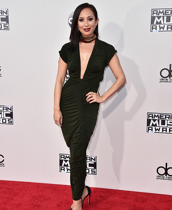 <div class='meta'><div class='origin-logo' data-origin='AP'></div><span class='caption-text' data-credit='Jordan Strauss/Invision/AP'>Cheryl Burke arrives at the American Music Awards at the Microsoft Theater on Sunday, Nov. 22, 2015, in Los Angeles.</span></div>