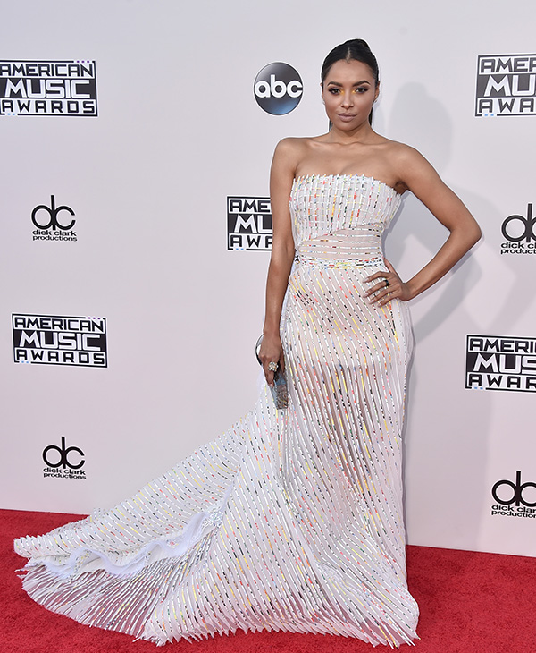 <div class='meta'><div class='origin-logo' data-origin='AP'></div><span class='caption-text' data-credit='Jordan Strauss/Invision/AP'>Kat Graham arrives at the American Music Awards at the Microsoft Theater on Sunday, Nov. 22, 2015, in Los Angeles.</span></div>