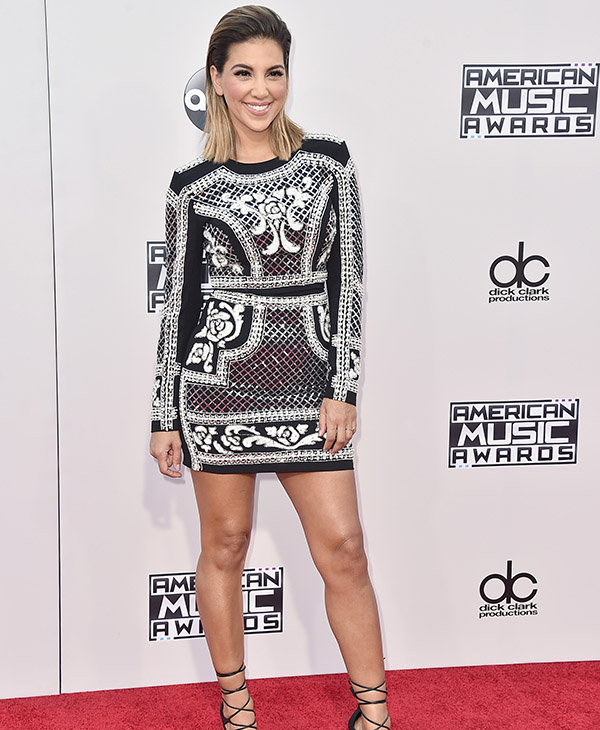 <div class='meta'><div class='origin-logo' data-origin='AP'></div><span class='caption-text' data-credit='Jordan Strauss/Invision/AP'>Liz Hernandez arrives at the American Music Awards at the Microsoft Theater on Sunday, Nov. 22, 2015, in Los Angeles.</span></div>