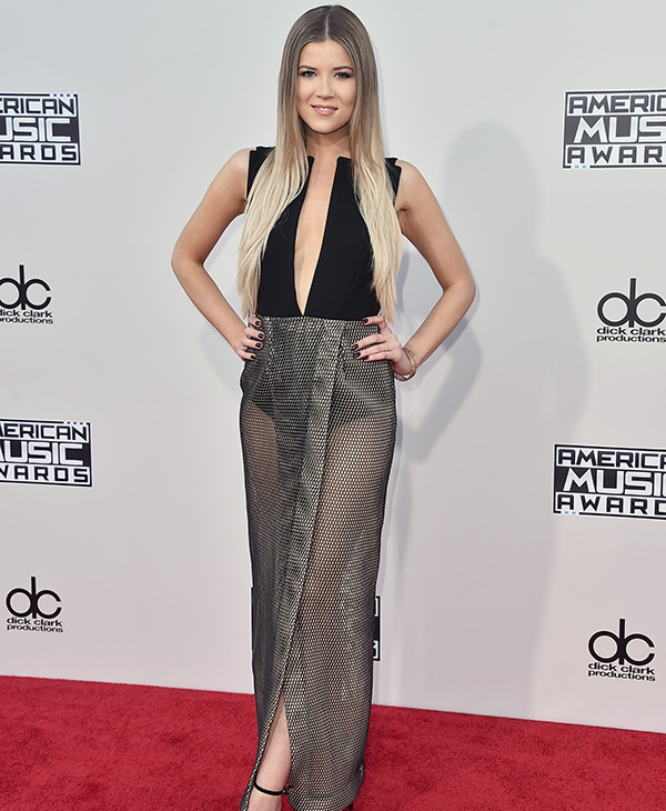 <div class='meta'><div class='origin-logo' data-origin='AP'></div><span class='caption-text' data-credit='Jordan Strauss/Invision/AP'>Meghan Rienks arrives at the American Music Awards at the Microsoft Theater on Sunday, Nov. 22, 2015, in Los Angeles.</span></div>