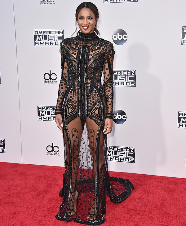<div class='meta'><div class='origin-logo' data-origin='AP'></div><span class='caption-text' data-credit='Jordan Strauss/Invision/AP'>Ciara arrives at the American Music Awards at the Microsoft Theater on Sunday, Nov. 22, 2015, in Los Angeles.</span></div>
