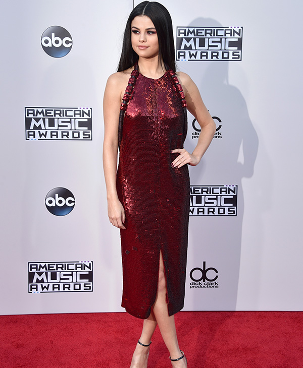 <div class='meta'><div class='origin-logo' data-origin='none'></div><span class='caption-text' data-credit='John Shearer/Getty Images'>Recording artist Selena Gomez attends the 2015 American Music Awards at Microsoft Theater on November 22, 2015 in Los Angeles, California.</span></div>