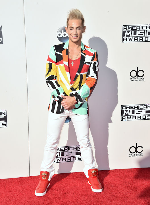 <div class='meta'><div class='origin-logo' data-origin='none'></div><span class='caption-text' data-credit='Jordan Strauss/Invision/AP'>Frankie Grande arrives at the American Music Awards at the Microsoft Theater on Sunday, Nov. 22, 2015, in Los Angeles.</span></div>