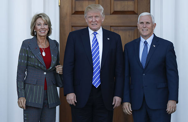<div class='meta'><div class='origin-logo' data-origin='none'></div><span class='caption-text' data-credit='Carolyn Kaster/AP Photo'>Trump has chosen charter school advocate Betsy DeVos as his secretary of education.</span></div>