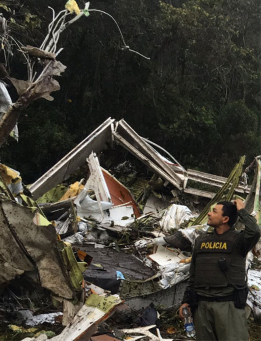 <div class='meta'><div class='origin-logo' data-origin='none'></div><span class='caption-text' data-credit='Antioquia Police/Twitter'>The Antioquia Police shared this photos of the aftermath of the crash.</span></div>