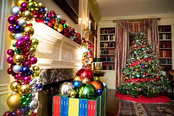 <div class='meta'><div class='origin-logo' data-origin='none'></div><span class='caption-text' data-credit='Andrew Harnik/AP Photo'>The Library of the White House is decorated during a preview of the 2016 holiday decor, Tuesday, Nov. 29, 2016, in Washington.</span></div>