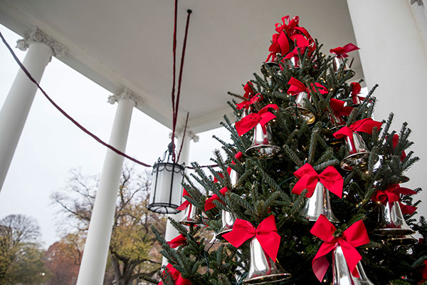<div class='meta'><div class='origin-logo' data-origin='none'></div><span class='caption-text' data-credit='Andrew Harnik/AP Photo'>The North Portico of the White House is decorated during a preview of the 2016 holiday decor, Tuesday, Nov. 29, 2016, in Washington.</span></div>