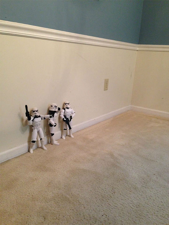 <div class='meta'><div class='origin-logo' data-origin='none'></div><span class='caption-text' data-credit='Photo/Kyle Shearrer and Phil Shearrer'>Phil Shearrer and his son Kyle brought &#34;Star Wars&#34; to life by having their stormtrooper toys set up a Christmas tree in a fun photo series.</span></div>