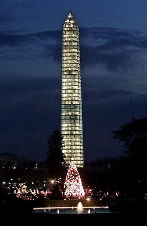 "<div class=""meta image-caption""><div class=""origin-logo origin-image none""><span>none</span></div><span class=""caption-text"">The national Christmas Tree and the Washington Monument as seen at dusk from the south lawn of the White House Sunday, Dec. 12, 1999. (Pablo Martinez Monsivais/AP Photo)</span></div>"