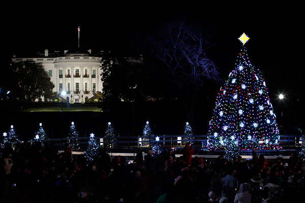 "<div class=""meta image-caption""><div class=""origin-logo origin-image none""><span>none</span></div><span class=""caption-text"">The National Christmas Tree is pictured with the White House in the background after it was lit on the Ellipse across from the White House in Washington, Thursday, Dec., 1, 2011. (Pablo Martinez Monsivais/AP Photo)</span></div>"