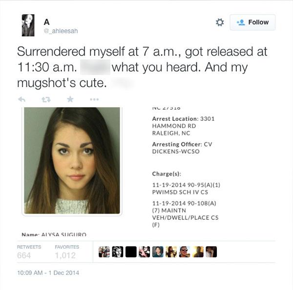 Cute Mugshot Girl Arrested Again