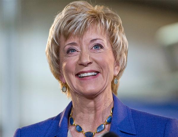 "<div class=""meta image-caption""><div class=""origin-logo origin-image none""><span>none</span></div><span class=""caption-text"">Trump selected Linda McMahon, co-founder of World Wrestling Entertainment Inc. (WWE) to lead the Small Business Administration. (Jessica Hill/AP)</span></div>"
