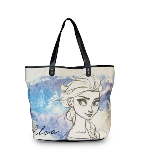 """<div class=""""meta image-caption""""><div class=""""origin-logo origin-image """"><span></span></div><span class=""""caption-text"""">Elsa hand-drawn canvas with faux leather tote - We love that this tote features a hand sketch of Elsa. (Loungefly)</span></div>"""