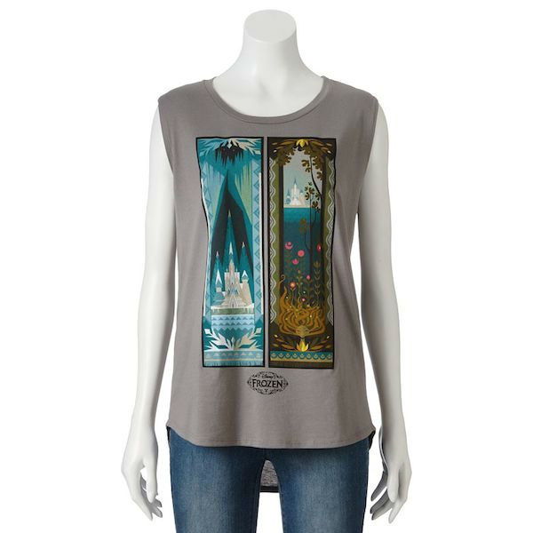 """<div class=""""meta image-caption""""><div class=""""origin-logo origin-image """"><span></span></div><span class=""""caption-text"""">Frozen vertical castle muscle tee - This Frozen tapestry tee is a unique way to show off your love for the film's setting. (Kohl's)</span></div>"""
