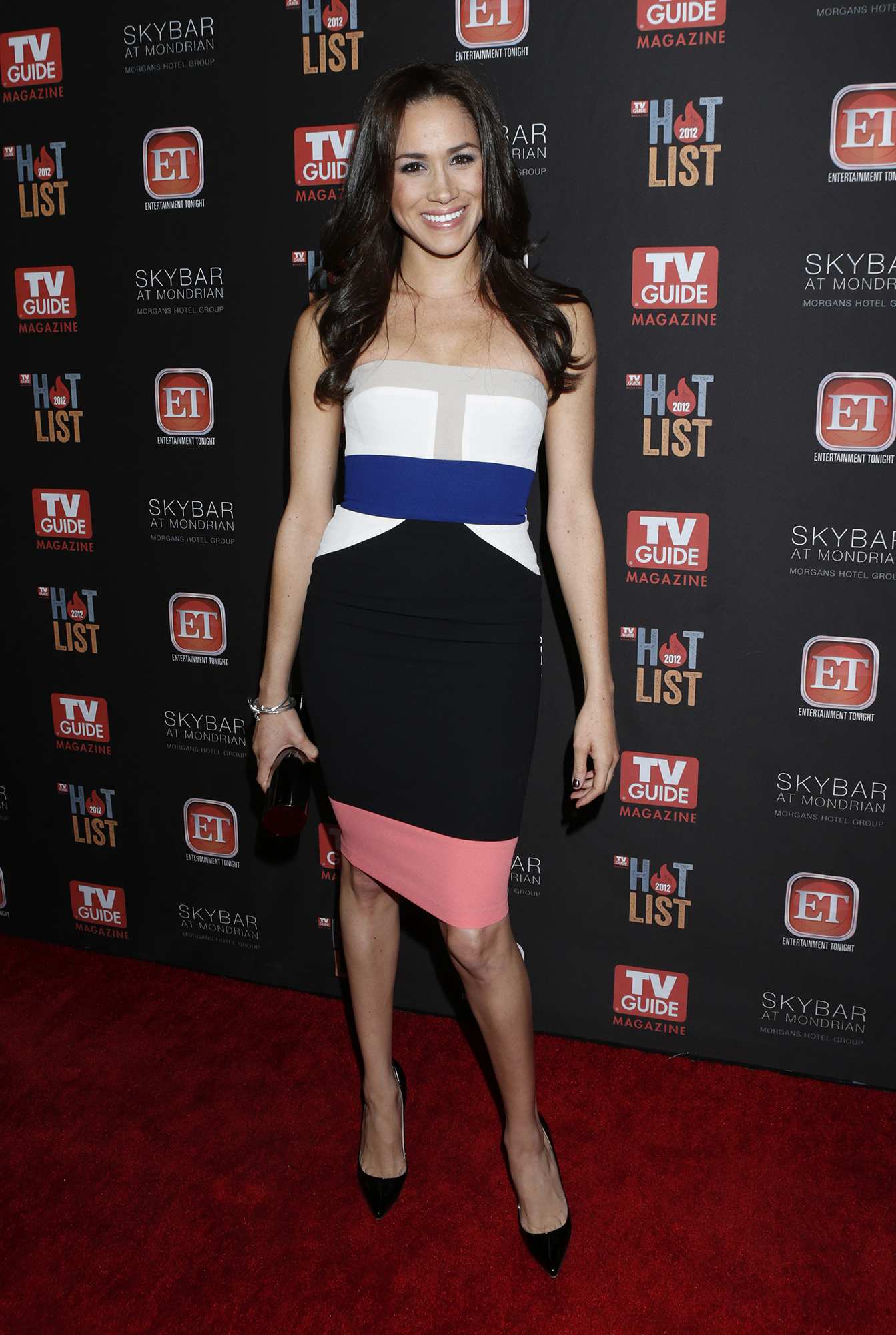 <div class='meta'><div class='origin-logo' data-origin='AP'></div><span class='caption-text' data-credit='Todd Williamson/Invision/AP'>Meghan Markle attends TV Guide Magazine's 2012 Hot List Party at Skybar at the Mondrian Hotel on November 12, 2012 in West Hollywood, California.</span></div>
