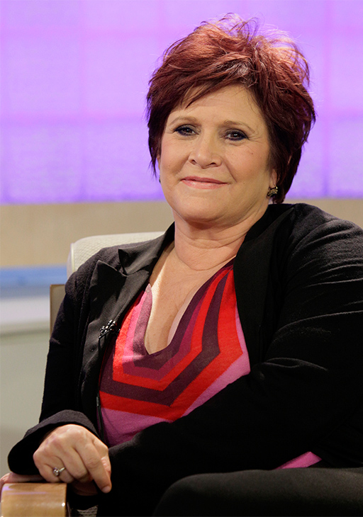 <div class='meta'><div class='origin-logo' data-origin='none'></div><span class='caption-text' data-credit='Richard Drew/AP'>Carrie Fisher on the NBC &#34;Today&#34; television program in New York Tuesday, Sept. 29, 2009.</span></div>