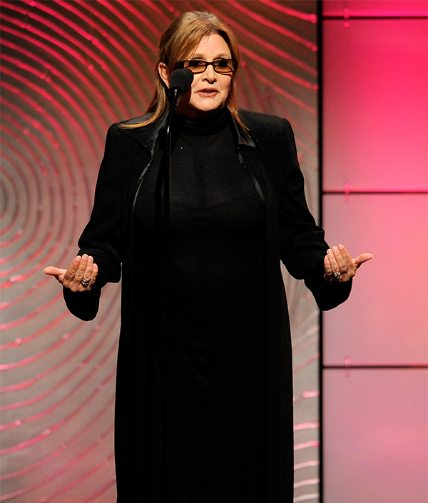 <div class='meta'><div class='origin-logo' data-origin='none'></div><span class='caption-text' data-credit='Chris Pizzello/Invision/AP'>Carrie Fisher presents the award for outstanding special class animated program at the 40th Annual Daytime Emmy Awards on Sunday, June 16, 2013, in Beverly Hills, Calif.</span></div>