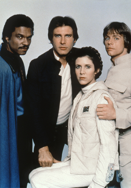 "<div class=""meta image-caption""><div class=""origin-logo origin-image none""><span>none</span></div><span class=""caption-text"">Billy Dee Williams, Harrison Ford, Carrie Fisher and Mark Hamill on the set of 'Star Wars: Episode V - The Empire Strikes Back' directed by Irvin Kershner, 1980. (Lucasfilm/Sunset Boulevard/Corbis via Getty Images)</span></div>"