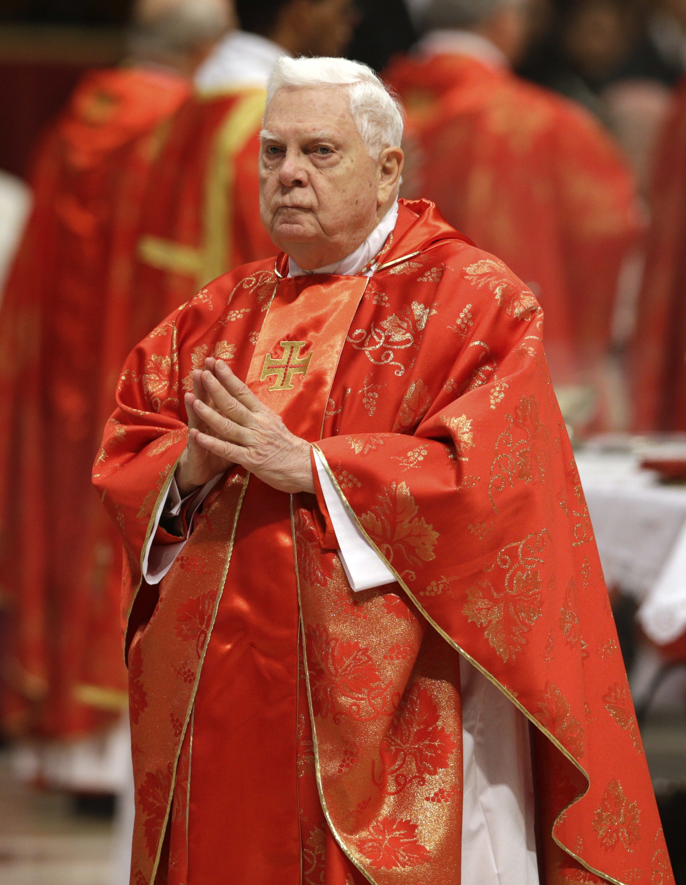 <div class='meta'><div class='origin-logo' data-origin='none'></div><span class='caption-text' data-credit='Andrew Medichini, File/AP Photo'>Cardinal Bernard Law, the former archbishop of Boston who became a central figure in the child abuse scandal in the Catholic church, died on Dec. 20, 2017. He was 86.</span></div>