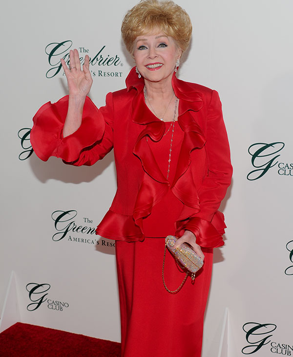 <div class='meta'><div class='origin-logo' data-origin='AP'></div><span class='caption-text' data-credit='AP Photo/Evan Agostini for The Greenbrier Resort'>Actress Debbie Reynolds attends the gala opening of The Greenbrier Casino Club on Friday, July 2, 2010 in White Sulphur Springs, W.Va.</span></div>