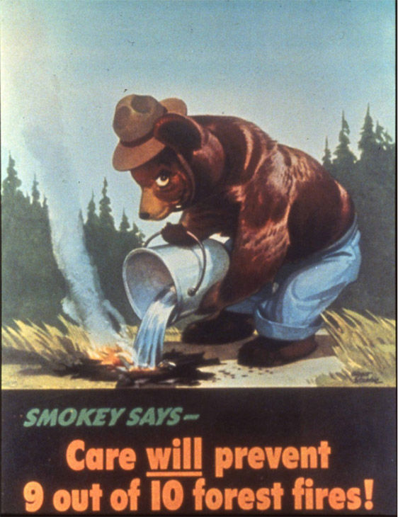 "<div class=""meta image-caption""><div class=""origin-logo origin-image ""><span></span></div><span class=""caption-text"">The first ever poster of Smokey the Bear, released on August 9th, 1944. (Photo/USDA)</span></div>"