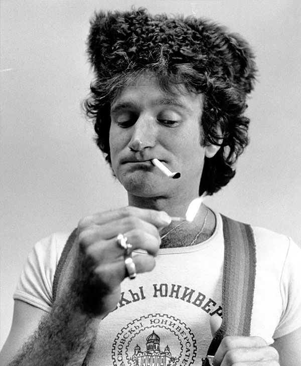 A photo of Williams doing his comedy routine from 1977. <span class=meta>Photo/AP</span>
