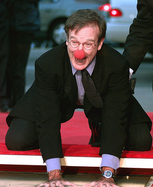 Williams getting his Hollywood Walk of Fame star in 1998. <span class=meta>AP</span>